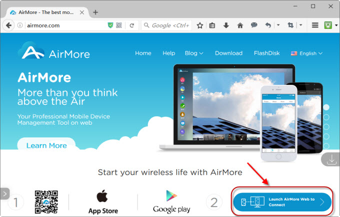 Launch AirMore Web