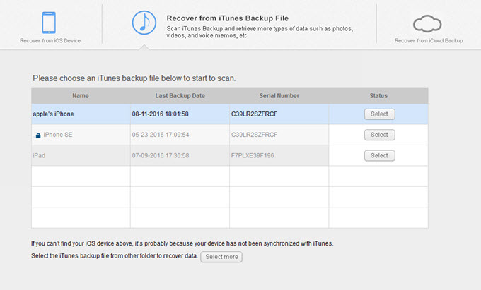 iTunes Backup File