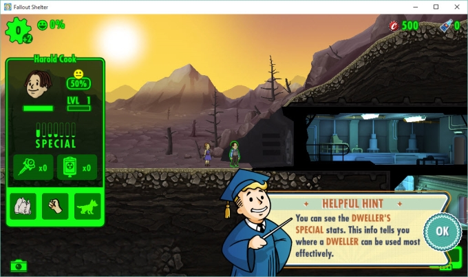 versión PC de Fallout Shelter PC Version
