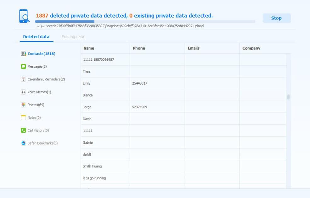 slette data