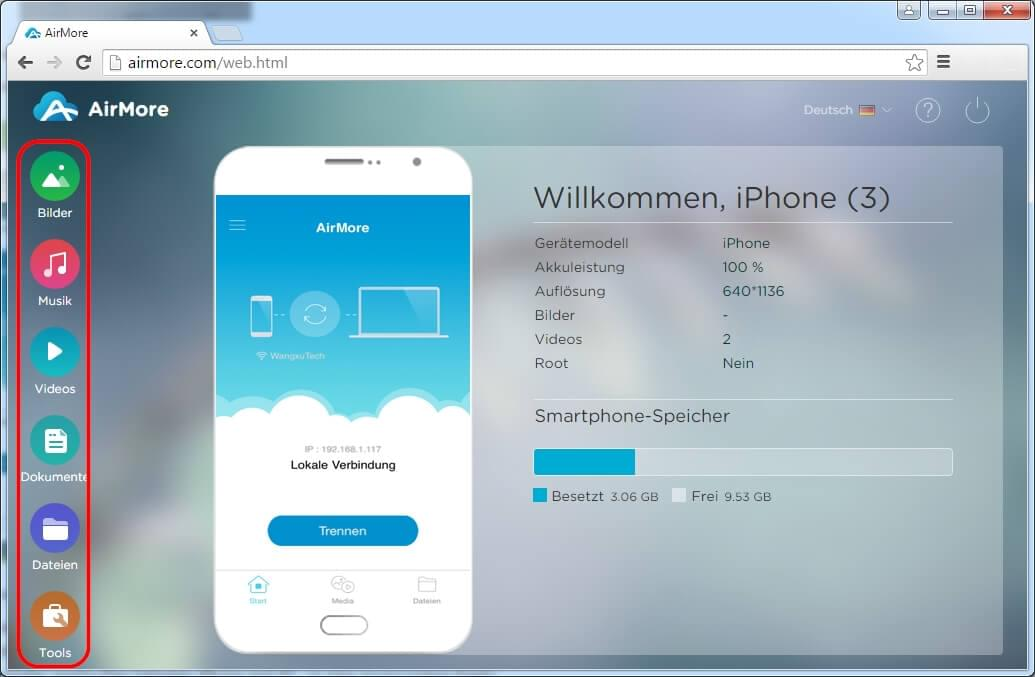 Apps für iphone anschließen