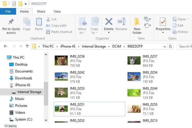 Transfer photos from iPhone to Windows 10 without iTunes