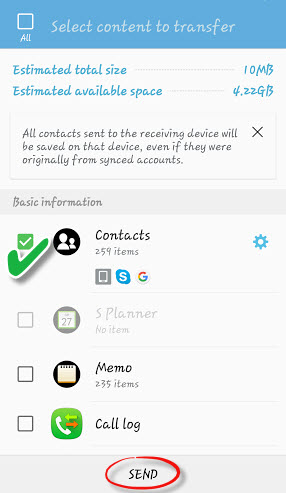 move contacts from Samsung to Samsung