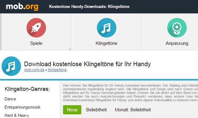 5 Besten Webseiten Um Kostenlos Klingeltöne Für Android Herunterzuladen