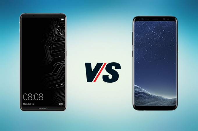 s8 vs mate10 display comparison