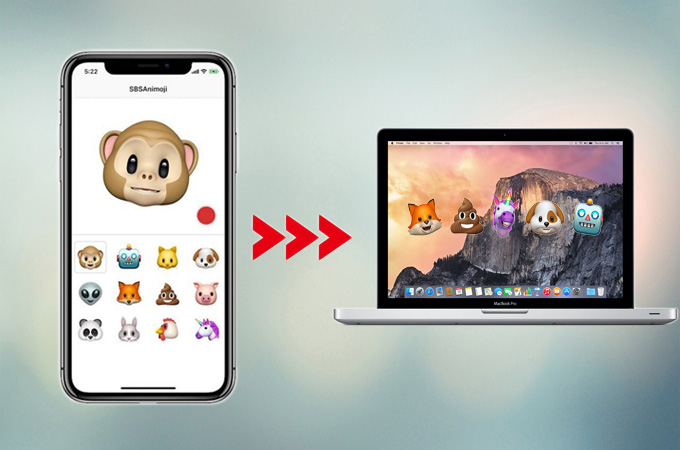 transfer animoji from iPhone to pc