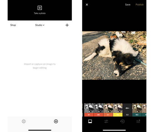 VSCO App Interface