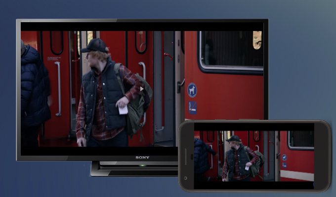 screen mirror android to sony tv
