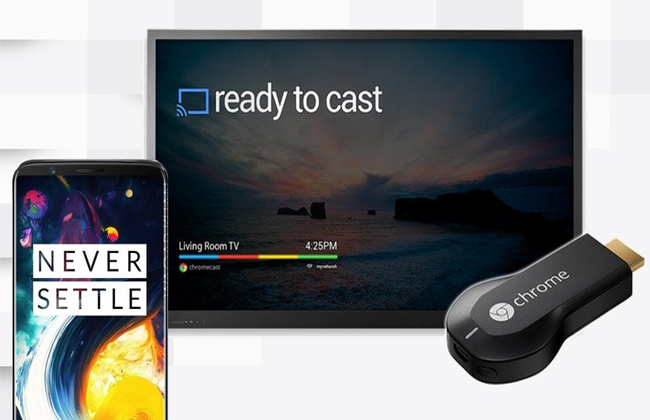 connect OnePlus 6 to TV via Chromecast