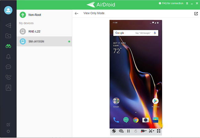 reflect 6t phone to computer with airdroid
